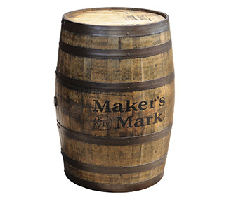 Authentic Maker's Mark Bourbon Whiskey Barrel