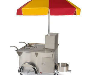 Authentic New York Hot Dog Vendor Cart
