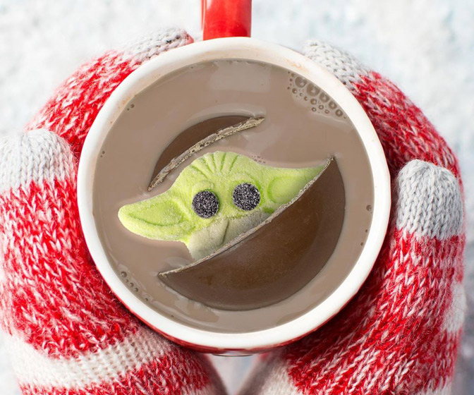 Grogu / Baby Yoda Marshmallow Hot Chocolate Bomb