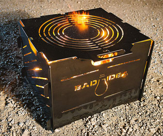 Bad Idea Pyro Cage - Portable Fire Pit, Campfire Stove, and Incinerator