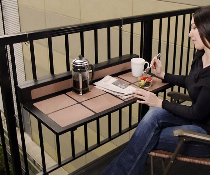 Balcony Railing Folding Table / Work Desk