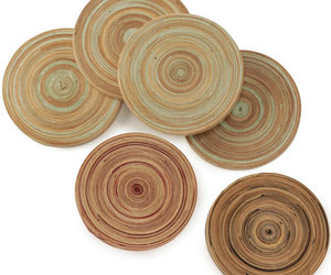bamboo drink coasters