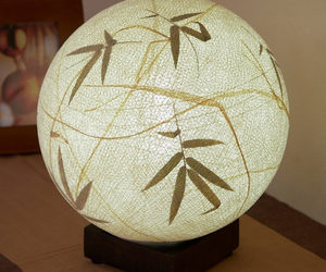 Bamboo Raffia Ball Table Lamp