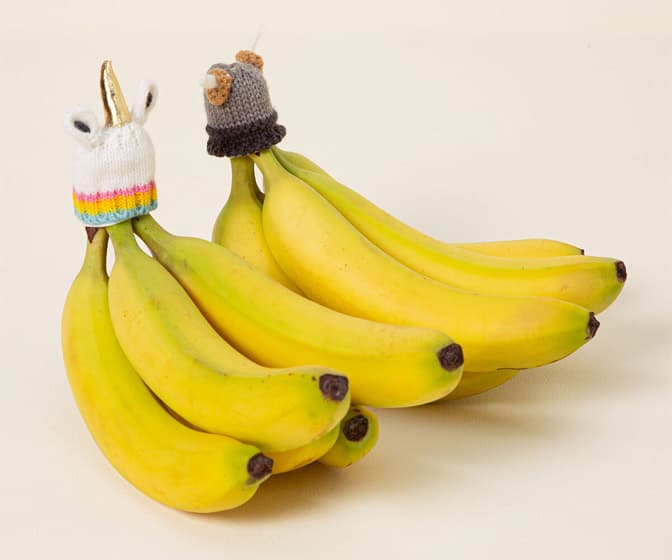 Banana-Saving Knit Hats