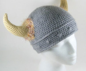 Barbarian Viking Knitted Hat
