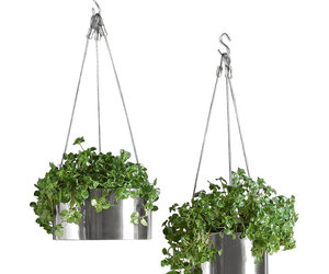 Bari Stainless Steel Hanging Planters