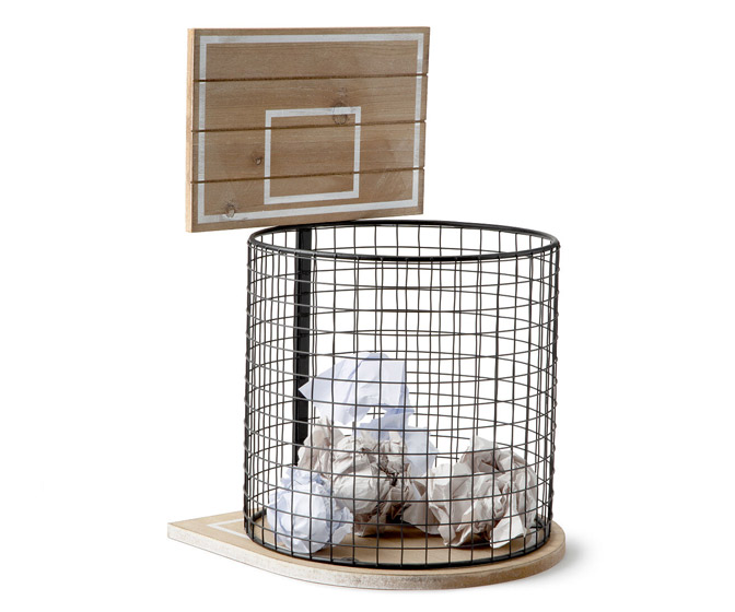 Basketball Hoop Wastebasket