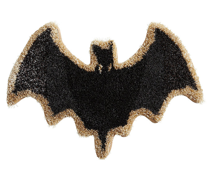 Bat-Shaped Shag Rug