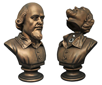Batman 1966 TV Series Flip Open Shakespeare Bust Bank