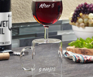 Before and After 5 PM Coffee Mug / Wine Glass