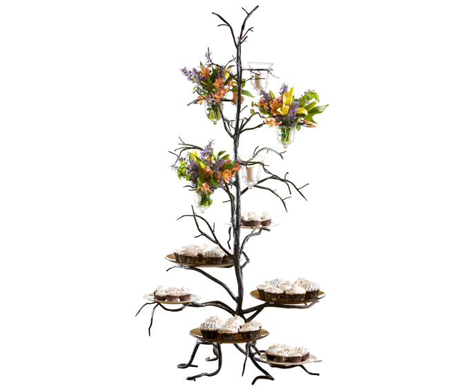 Bella Toscana Rustic Cast Iron Twig Serving Tower
