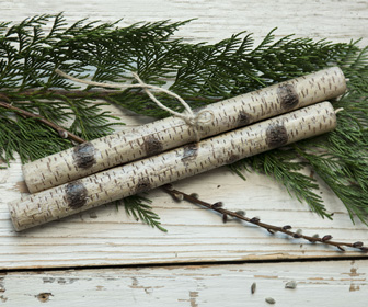 Birch Branch Taper Candles