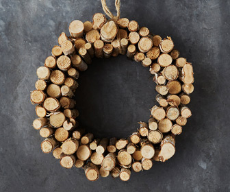 Birch Twig Slice Wreath