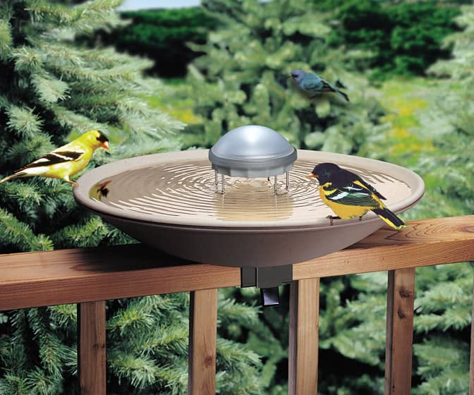 Bird Bath Solar Water Wiggler - Attracts Birds and Prevents Mosquitoes