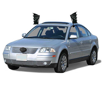 Black Bat Halloween Car Costume