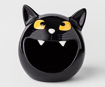 Black Cat Halloween Candy Bowl