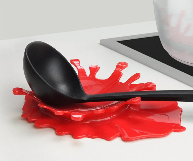 Blood Splatter Kitchen Utensil Holder
