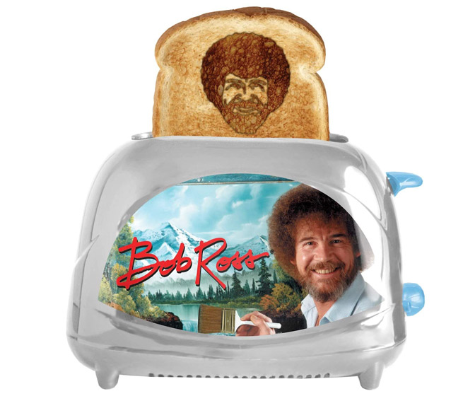 Bob Ross Toaster - Toasts His Face Onto Your Toast