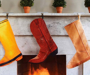 Modern Boot Christmas Stockings