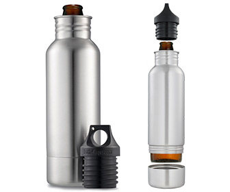 BottleKeeper - Stainless Steel Beer Bottle Holder and Insulator
