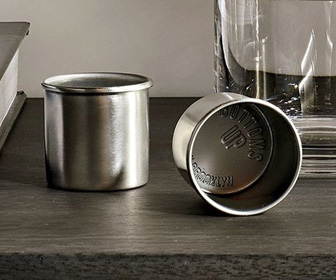 Bottoms Up Stainless Steel Shot Glasses