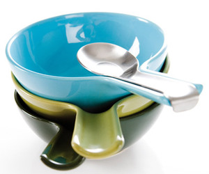 Bowls With Built-In Spoon Holders