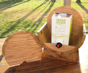 Box of Wine Cedar Barrel Dispenser