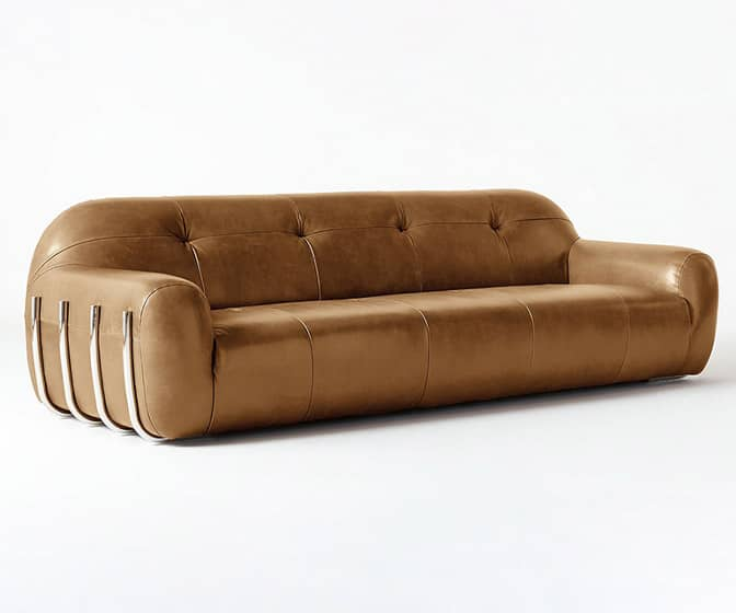 Brace Leather Sofa