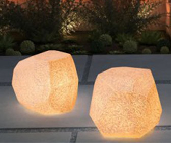 Bright Rock Illuminated Stool