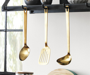 Brushed Gold Kitchen Utensils