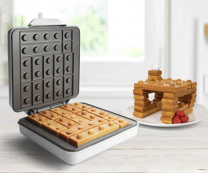 Building Brick Electric Waffle Maker