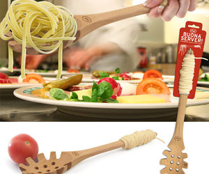 Buona Pasta Server with Silicone Spaghetti Handle