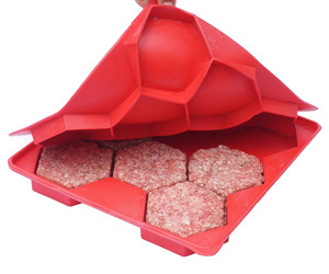 Burger Master - Press and Store 8 Hexagonal Burger Patties