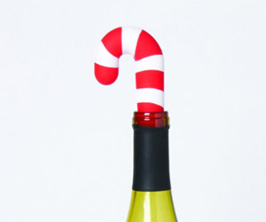Candy Cane Bottle Stopper