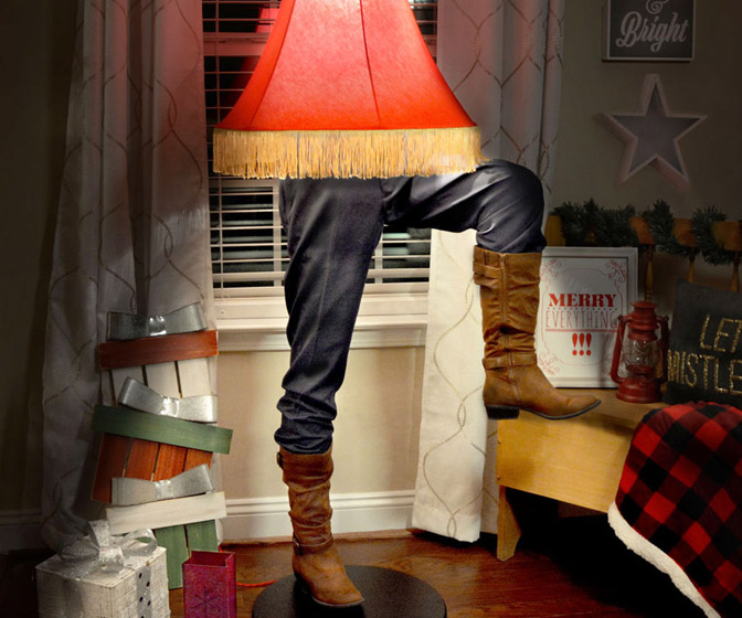 Captain Morgan Leg Lamp