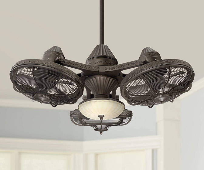 Casa Vieja Esquire - Industrial Triple Head Ceiling Fan
