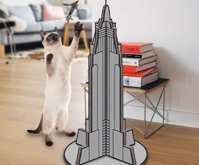 Cat Kong - Cardboard Skyscraper Cat Scratcher