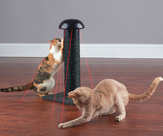 Cat Scratching Post With Built-In Laser Toy