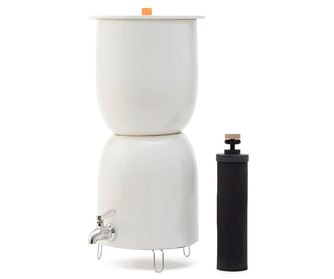 Ceramic Water Dispenser With Built-In Berkey Water Filter