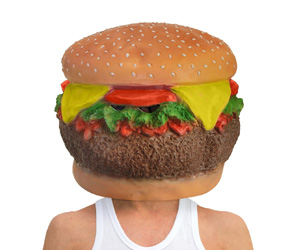 Cheeseburger Head Mask