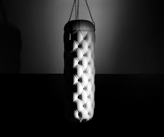 Chester Club - Chesterfield Sofa-Inspired Tufted Leather Punching Bag