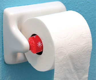 Christmas Spin-A-Song Musical Toilet Paper Roller