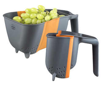 Collapsible Hands-Free Silicone Colander / Strainer