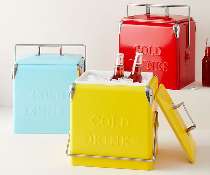 Colorful Vintage-Style Coolers