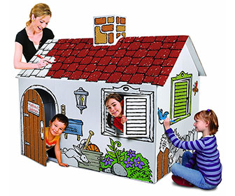Coloring Book Cardboard Playhouse