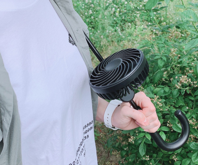 Compact Clip-On Umbrella Pole Fan