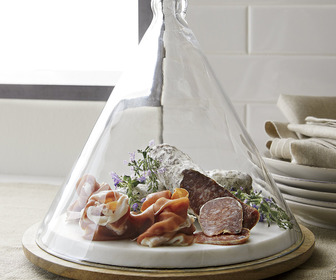 Cone-Shaped Glass Dome Covered Server
