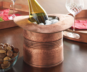Copper Top Hat Ice Bucket / Wine Cooler
