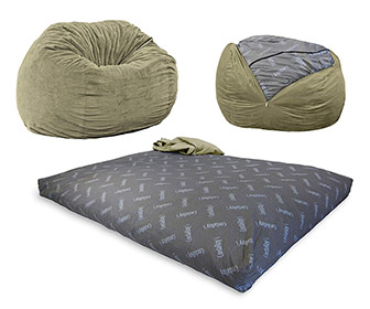 CordaRoy Convertible Bean Bag Chair / Bed