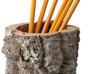 Cork Bark Pencil Holder / Desktop Receptacle